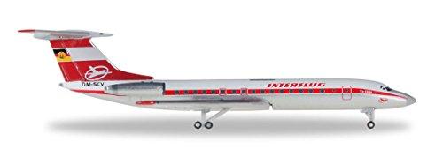 HE527095 Herpa Interflug TU134A 1:500 Model Airplane ()
