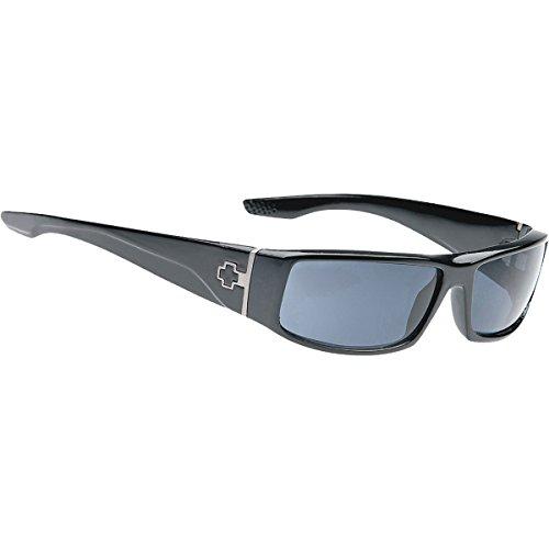 Spy Optic Unisex Cooper Polarized Sunglasses, Black Gloss/Grey, - Spy Sunglasses Cooper