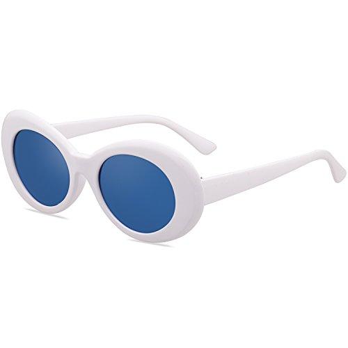 Ovale Cadre Blanc de Lunettes Kurt Cobain SOJOS Soleil Lentille Homme Cadre Épais Bleu Femme Rond Modern avec SJ2041 w6qxn8Ypg