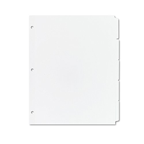 Tabs Avery Divider (Avery 11506 Write & Erase Plain-Tab Paper Dividers, 5-Tab, Letter, White (Box of 36 Sets))