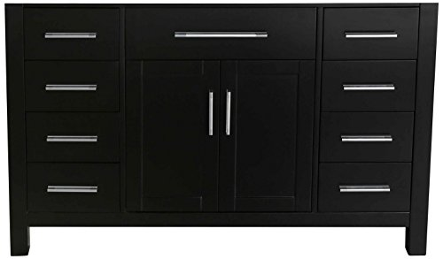 Bosconi Bathroom Vanities SB-252-3BMC Main Vanity Cabinet with Wood Frame and Eight Soft Closing Drawers, 47