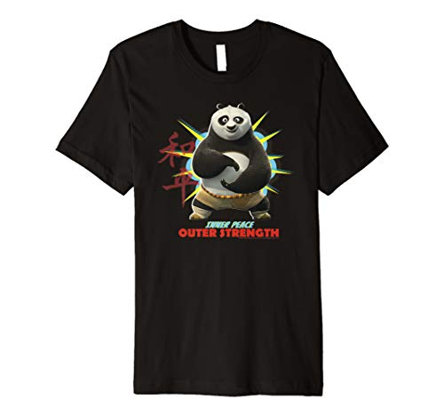 Kung Fu Panda Po Inner Peace Out Strength Portrait Premium T-Shirt
