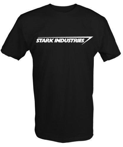 6 Tee Niners Men's Custom Stark Industries' T-Shirt Iron Man Avengers Fan Art X-Large Black - Iron Man Custom