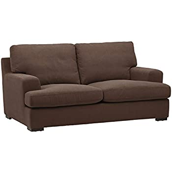 Remarkable Stone Beam Lauren Down Filled Oversized Loveseat With Hardwood Frame 74W Chocolate Pdpeps Interior Chair Design Pdpepsorg