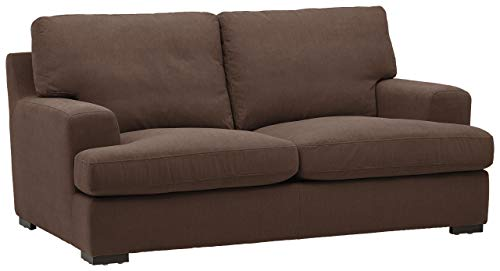 "Stone & Beam Lauren Down-Filled Oversized Loveseat with Hardwood Frame, 74""W, Chocolate"