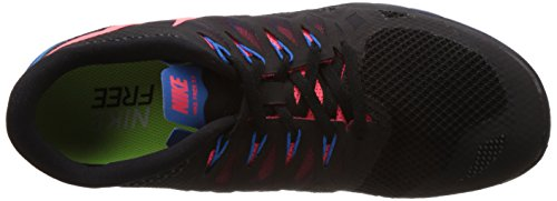 Nike Free 5.0 - Zapatillas para hombre Schwarz (Black/Hyper Punch/Photon Blue/Anthracite 002)