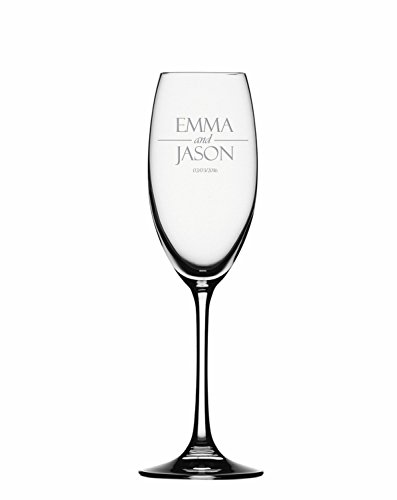 (Champagne Flute, Best Man Champagne Glass, Personalized Toasting Flute Glasses,Wedding Gifts,Customized gifts (WEDDING COUPLE))
