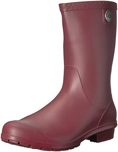 UGG Women's Sienna Matte Rain Boot, Garnet, 8 M US