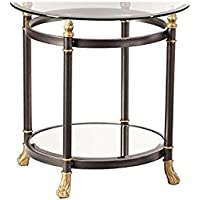 Allesandro End Table in Dark Gray Finish