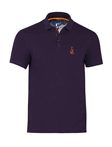 Blue Hawaii Polo with Elvis Chest Logo (Nightshade, 2X-Large) ()