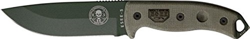 ESEE -5 Serrated Edge Blade with No Sheathing, Olive Drab