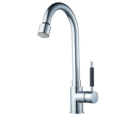 Modern Pull-out/­Pull-down / Standard Spout Vessel Rain Shower / Pullout Spray / Rotatable withCeramic Valve Single by Zheng