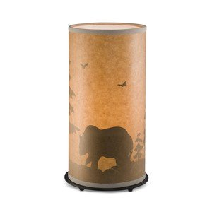 Bronze Paper Lamp Table (Rustic Wasilla Wilderness Table Lamp with Oil Paper Shade)