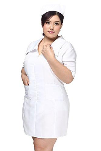 [CNS Nurse Costume [ White Plus Size for Women ] Cosplay Dress (Plus, pure white)] (Costumes Ideas Plus Size)