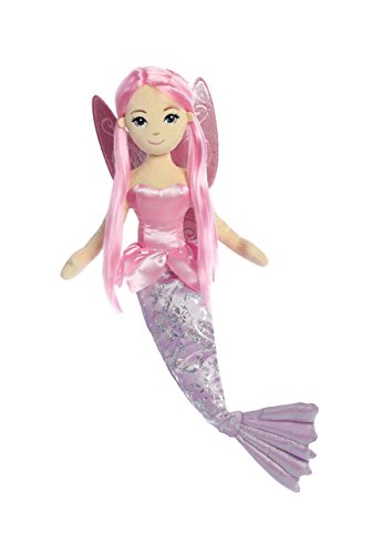 Aurora World Sea Sparkles Fairy Mermaid Coralina Plush (Fairy Doll Plush)