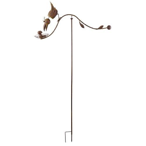 Red Carpet Studios Balancing Buddies Yard Art, 51 Inch Tall, Mother Bird & Nest