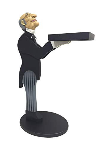 Bombay James the Host Butler Statue Side Table, 33-inch High