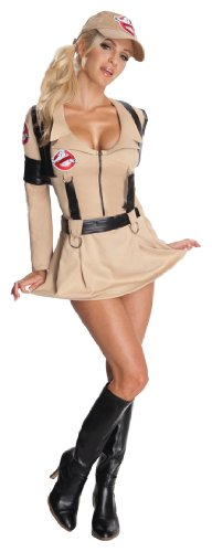 Sexy Ghostbusters Costumes (Rubie's Ghostbusters Secret Wishes Sexy Costume,Tan,Medium)