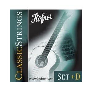 HÖFNER HCS-SET+D Classic Medium Tension E1-E6 Nylon-Saiten für Konzertgitarre