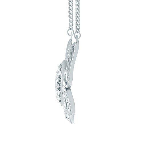 Giantti Diamant Pendentif Femme Collier (0.2108CT, VS Clarté, Gh-colour)