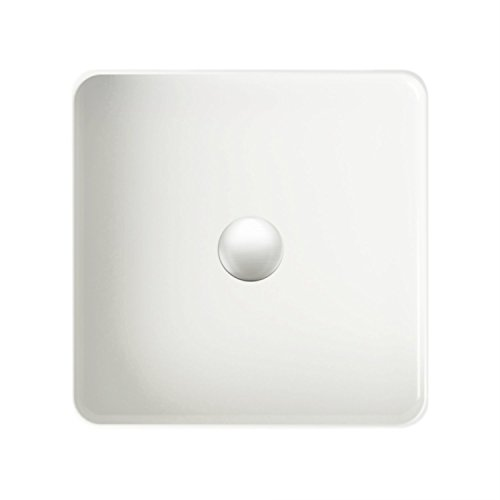 Zuhne Bathroom Vanity Vessel Sink SCORE Series Square White Above-Counter Sink With Pop-up Drain]()