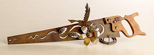 Metal Art Hummingbird and flowers design Hand plasma cut handsaw