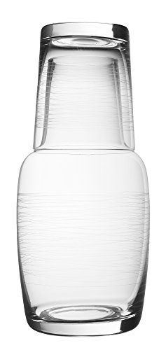 Bedside and Guestroom Night Water Carafe Beverage Set (28 Ounce) (Crystal Decanter Water)