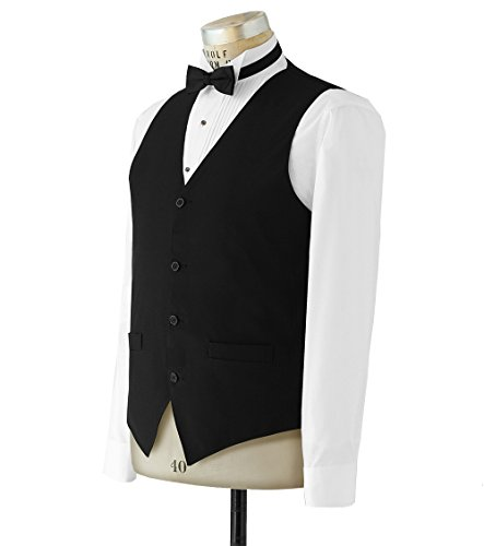 Neil Allyn 100% Polyester Solid Black Wait Staff Vest for Women - X-Small