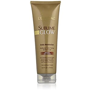 L'Oreal Paris Sublime Glow Daily Moisturizer and Natural Skin Tone Enhancer, Medium Skin Tones, 8 fl. oz.