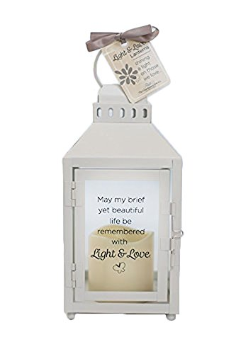 The Grandparent Gift Co. Light and Love Lanterns - Child or Infant Loss Memorial Lantern with Flickering LED Candle - Beautiful Bereavement/Sympathy Gift - ()