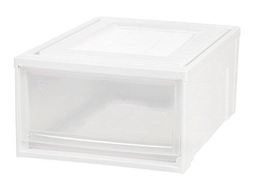 IRIS Medium Box Chest Drawer, White, 3 Pack (Storage Drawers Chest)
