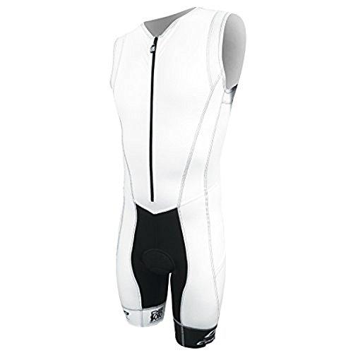 - DeSoto Men's Forza Tri Suit (White, Small)
