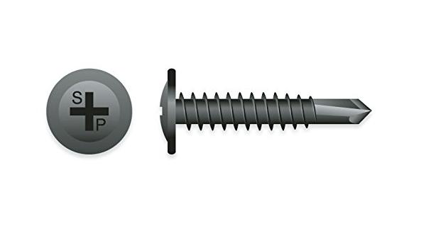 100 Qty #8 x 3//4 Black Phillips Modified Truss Head Wood Screws BCP1078