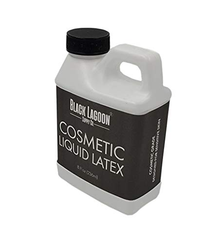 Special Effects Makeup Supplies (Cosmetic FX Liquid Latex 8 oz jug - Developed for Sensitive Skin - Dries Clear! Special Effects Makeup)