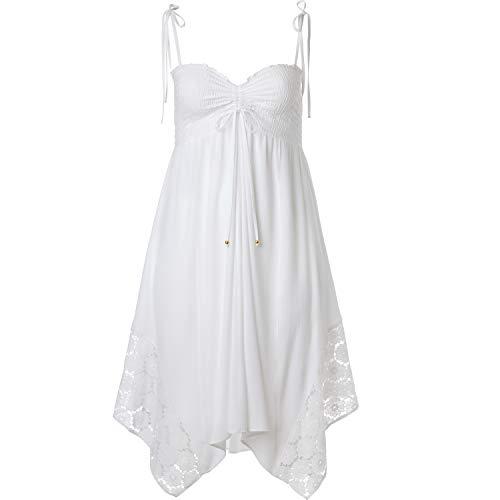 Ellos Women's Plus Size Handkerchief Hem Dress - White, 18/20 ()