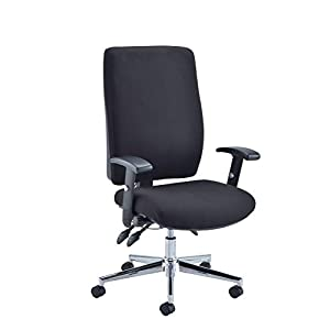 Office Hippo Ergonomic Office Chair Lumbar Support, Orthopedic Office Chair with Arms for Home Office, Fabric, Black 16