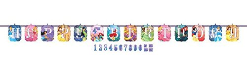 Disney Princess Dream Big Kids Birthday Party Jumbo Add An Age Letter Banner 10 Ft. (Disney Birthday Games)