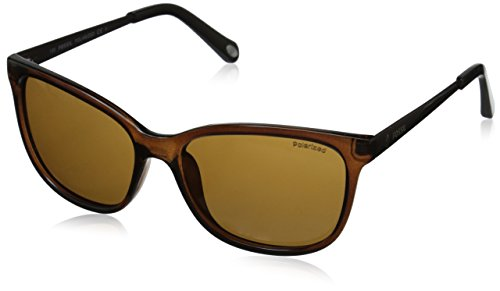 Fossil Women's FOS3038PS Polarized Square Sunglasses, Brown & Brown Polarized, 54 - Fossil Womens Sunglasses