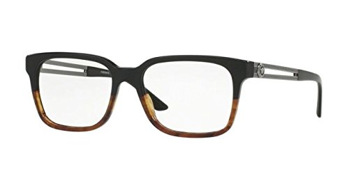 Versace Men's VE3218 Eyeglasses Black/Havana - Eyewear Versace Men
