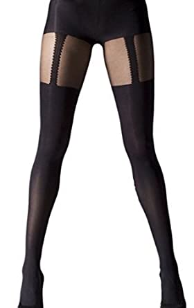 05523102ffd67 Gipsy Mock Suspender Tights, one size and plus size (One size): Amazon.co.uk:  Clothing