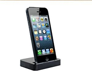 Effects(TM) iPhone 5 5s 5c Data Sync Charging Cradle Mount Dock Station Stand with 3.5mm Line out Audio Interface (White+Black)