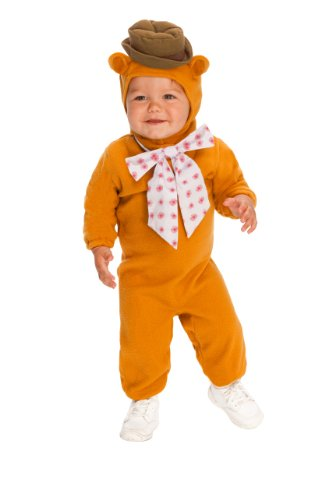 The Muppets Romper Costume, Fozzie Bear, Toddler (The Muppets Kermit Toddler Costumes)