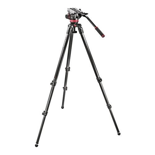 Head with 535 Carbon Fiber Tripod and Padded Bag MVK502C (Manfrotto Video Monitor)