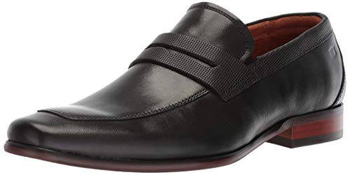 Florsheim Men's Potenza Dress Casual Moc Toe Penny Loafer, Black, 8 Medium
