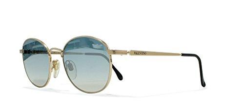 Valentino V519 903 Gold Vintage Sunglasses Oval For - Vintage Valentino Sunglasses