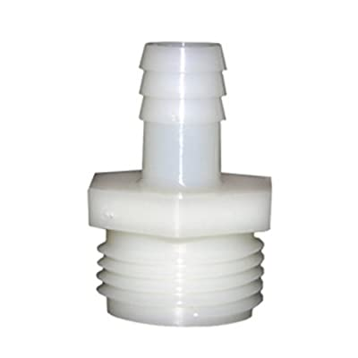 LASCO 19-9505 Male Hose Thread Adapter Barb Fitting with 1/2-Inch Barb and 3/4-Inch Male Hose Thread, Nylon