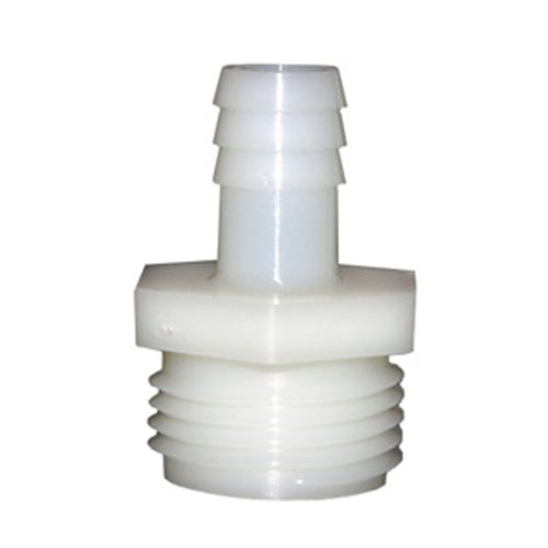 - LASCO 19-9505 Male Hose Thread Adapter Barb Fitting with 1/2-Inch Barb and 3/4-Inch Male Hose Thread, Nylon