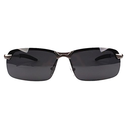 Marco Mujer LINNUO Cadre Oro Conducción Polarizadas Negro Sol HD Aviador en de Anteojos Gafas Eyeglasses Métal Lente Hombre Sunglasses rvUvnITf