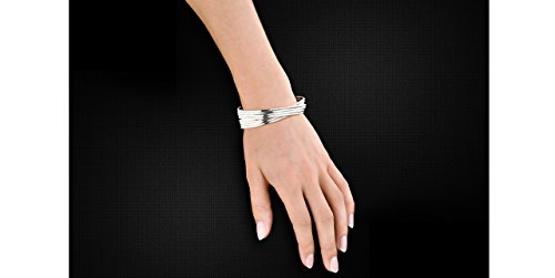 Clio Blue Bracelet manchette New Basic en argent 925, 62.5g, Ø65mm