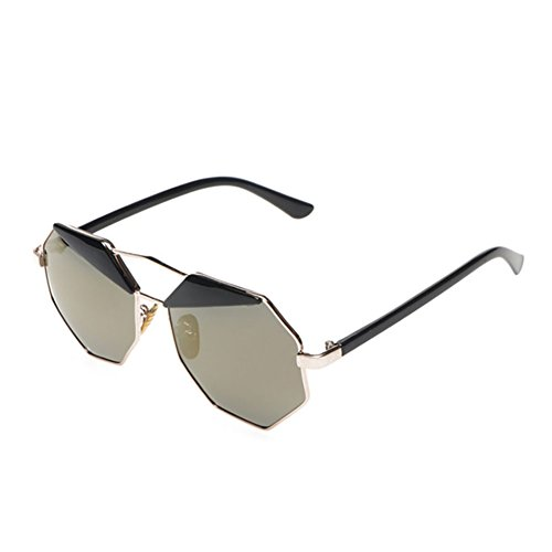 GAOJUAN Sunglasses Polígono Driving Coloridas De Fashion Sol Gold Gafas Mens Pink Creative Frzwr